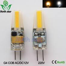 10 G4 pçs/lote 1505 SMD LED Lamp Bulb AC/DC12V AC220V 6W Lâmpada LED SMD COB LEVOU Luzes de Iluminação substituir Holofotes de Halogéneo Lustre