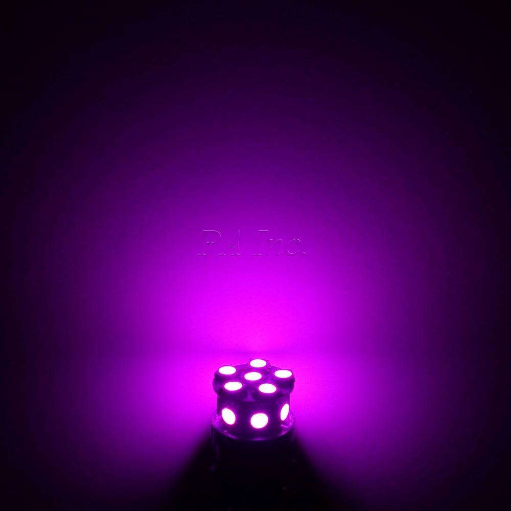 PA LED 10PCS x Car LED Lamp 13SMD T20 7440 5050 LED Car Turn Brake Light Stop Light Lamp Bulb LED 12V PINK 10pcs car led t20 7443 w21 5w 7440 13 smd led 5050 13smd led clearance lights brake light bulb lamp white red yellow blue 12v