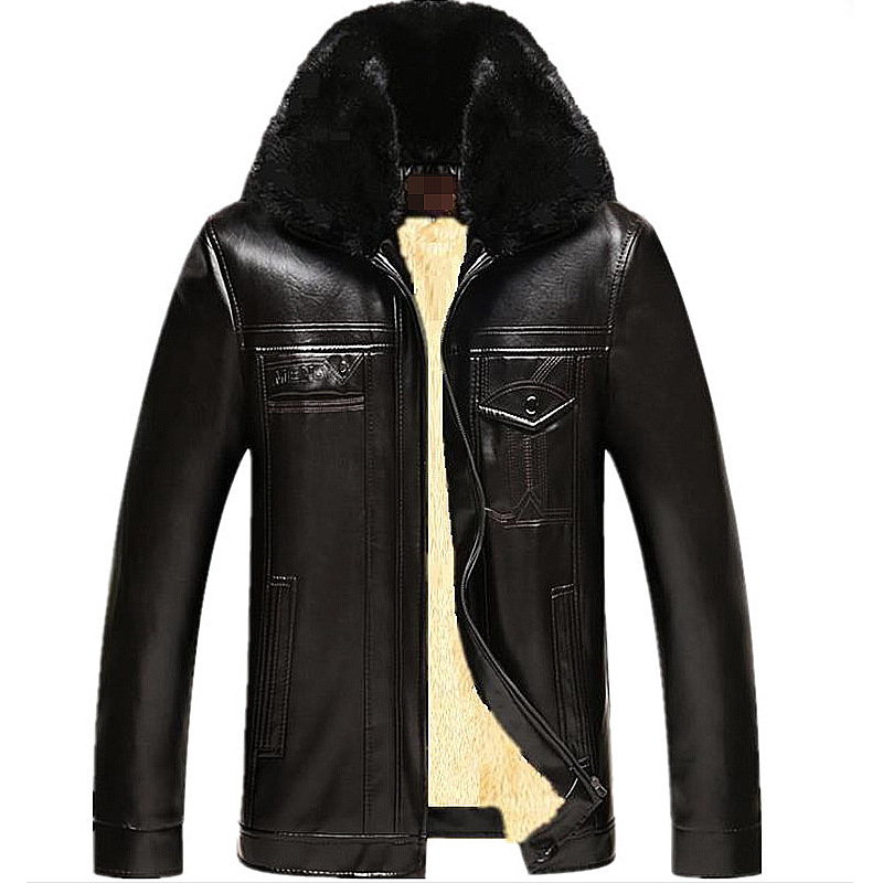 Male Motorcycle Fashion Leather Jacket Men Winter Pilot Leather Jackets And Coats Biker Mantel Mens Faux Fur Coats Famous Brand free shipping new vintage brand clothing mens cow leather jackets men genuine leather biker jacket motorcycle homme fitness