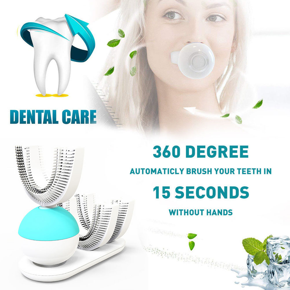 U Shape Electric Toothbrush 360 Degrees Rechargeable Ultrasonic
