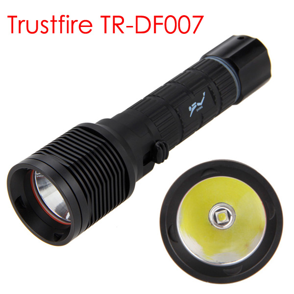 100m Underwater Diving Flashlight TrustFire TR DF007 C ree XM L2 2000LM LED Diving Scuba Flashlight Torch Light Lamp White-in LED Flashlights from Lights & Lighting    1