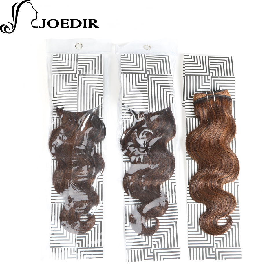 Joedir Pre-Colored Black Brown Body Wave Human Hair Bundles Raw Indian Hair Weave 1 Bundle F1b30 Hair Extensions 100g