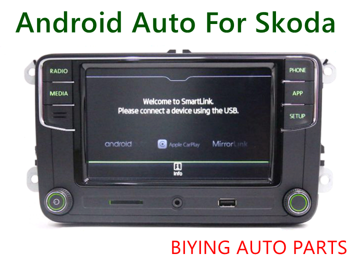 Android Auto CarPlay MirrorLink Noname RCD330 Plus R340G 6 5 MIB Radio With Green Backlight For