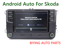 Android Auto CarPlay MirrorLink Noname RCD330 Plus R340G 6.5 MIB Radio With Green Backlight For Skoda Octavia Fabia Superb Yeti