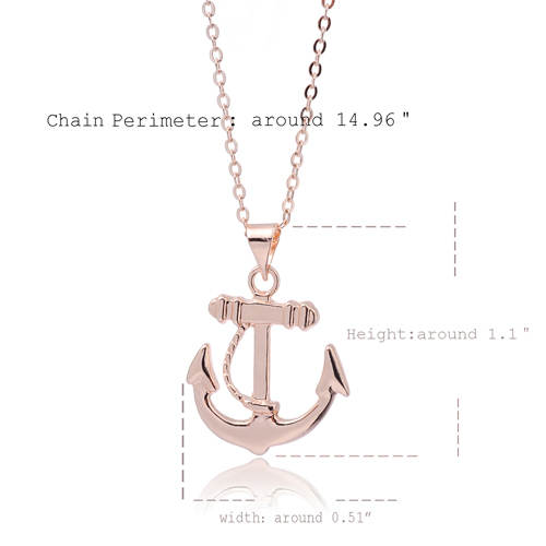 7bdcebd16399a US $5.5 |AOLOSHOW rose Gold color Simple Anchor Necklace Statement long Bar  necklace jewelry for women allergy dainty necklace ,nl 2342-in Pendant ...