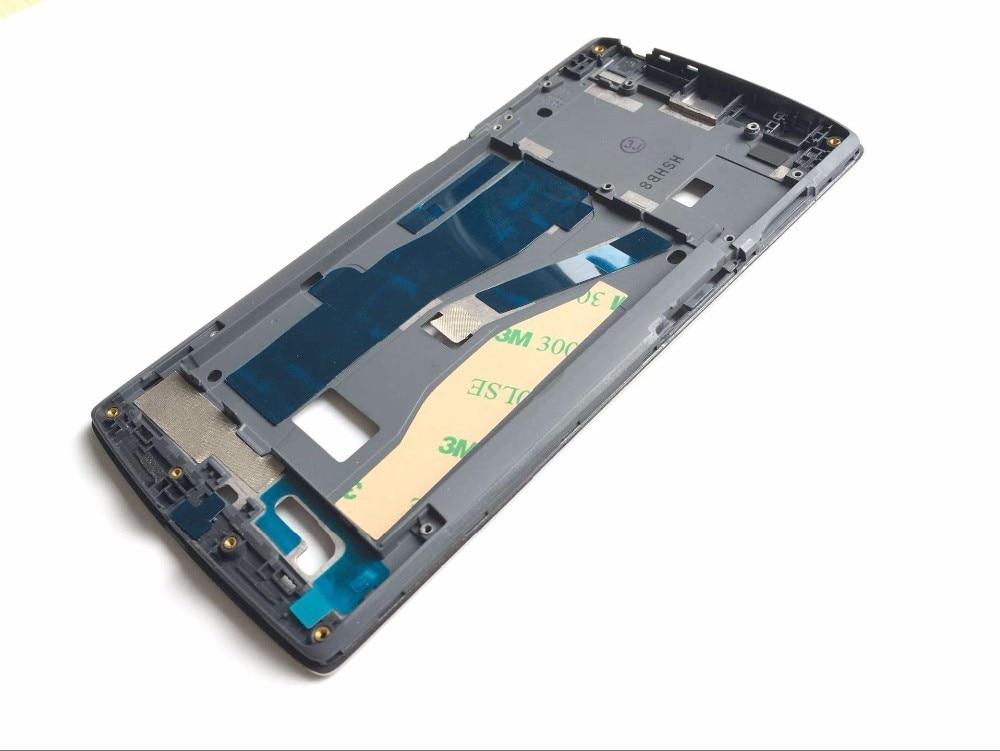 Para oneplus one frame lcd a estrenar lcd marco medio asamblea reemplazo para oneplus 1 inteligente teléfono móvil del envío gratis