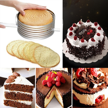 Stainless Steel Round Bread Slicer Baking cake  decorating tools Adjustable Cake Mold
