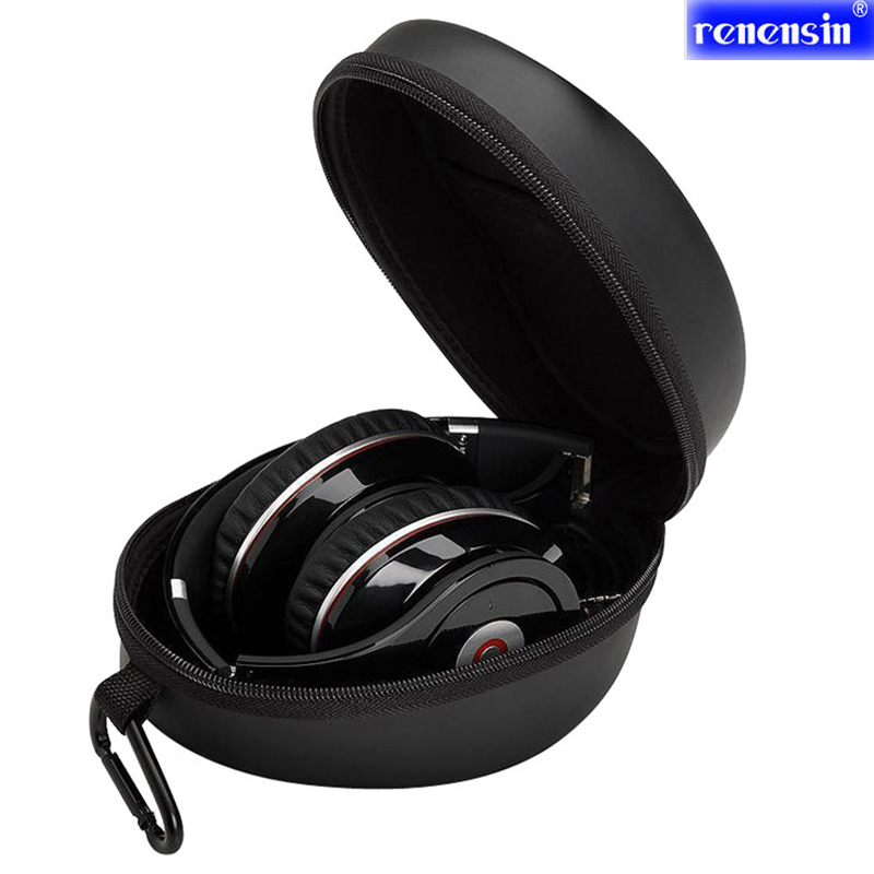 Headphone Box EVA Anti-shock Protection Carrying Hard Case Bag box for Studio Solo Pro Mix headphone Zipper case 18X15X9cm