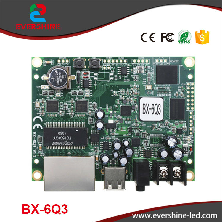 Onbon BX-6Q3 Ethernet+USB Lintel Full Color LED Controller bx 6q3 usb and ethernet port lintel full color led control card asynchronous video led sign controller 384 1024 512 768pixels