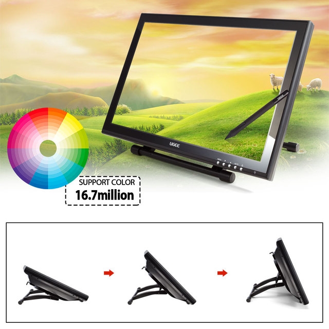 UGEE Graphic LCD Monitor Drawing Charging Pen for Ugee 19