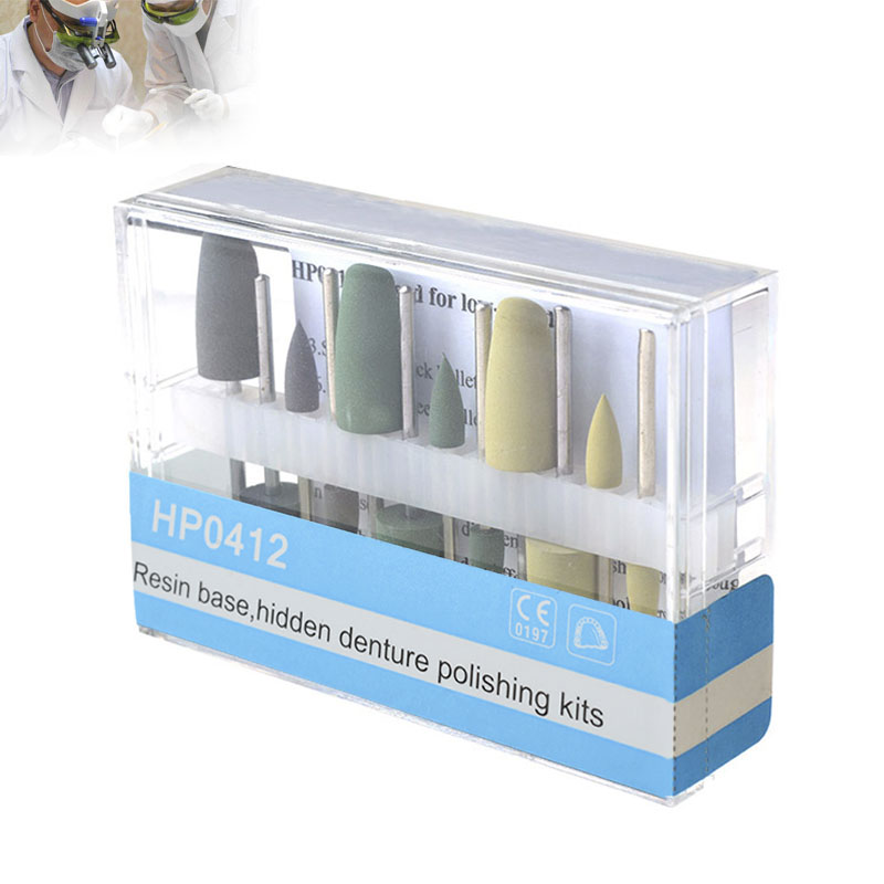 Dental Oral Hygiene Resin Base Hidden HP0412 Denture Polishing Kits  For Low-Speed Handpiece Teeth Whitening