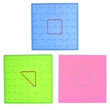 Пластмассовая пластина для ногтей, начальная математика, инструмент для гвоздей, Геометрическая демонстрационная детская развивающая игрушка, обучающий инструмент, игра-головоломка