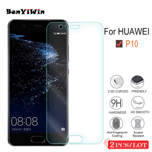 2PCS Premium Tempered Glass for Huawei P10 Screen Protector Clear Toughened protective film Case For Ascend P10 Glass Cove Phone