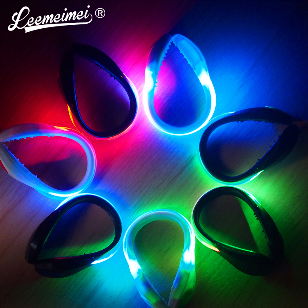 LED warning light clip Colorful flashing shoe clip for night running and night riding rc led flashing light night light w led board and led extension wire for quadcopter 4 pcs