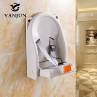 Yanjun Commercial Restrooms wall mount anti bacterial PE infant horizontal changing table baby diaper baby chang stationYJ 2043