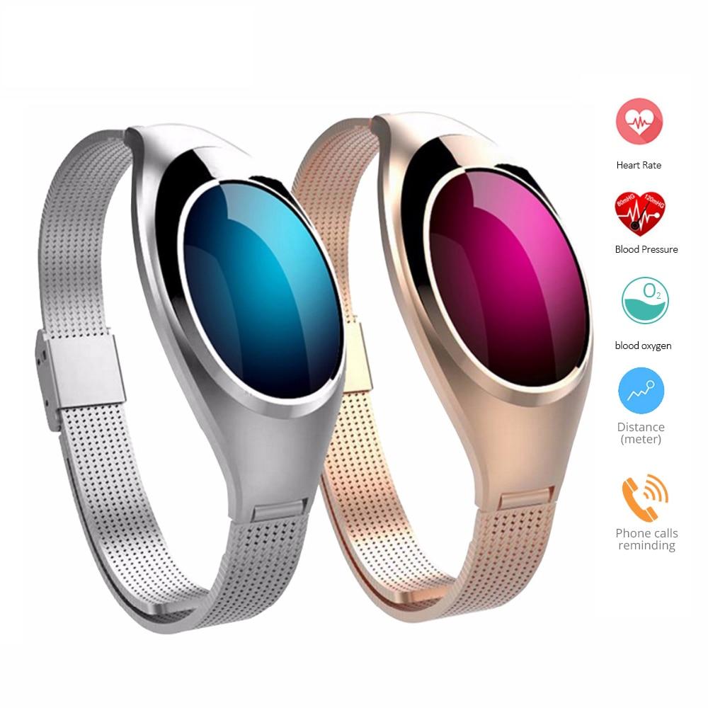 Z18 bande À Puce bracelet Femmes Bracelet avec en Oxygène du Sang de Fréquence Cardiaque Fitness Tracker Caméra télécommande Pour Android IOS téléphone