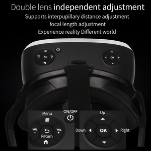 Image 5 - 5.5 3G RAM Android 2K HD Wifi HDMI Video Box Smart Glasses Virtual Reality All In One VR Headset 3D Glasses With VR Controller