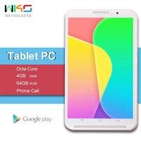 2019 Новый Android 7,0 Octa Core 8 дюймов Tablet PC 4G B Оперативная память 6 4G B Встроенная память 8MP WI FI 4G LTE планшеты телефонный звонок Dual SIM Google play
