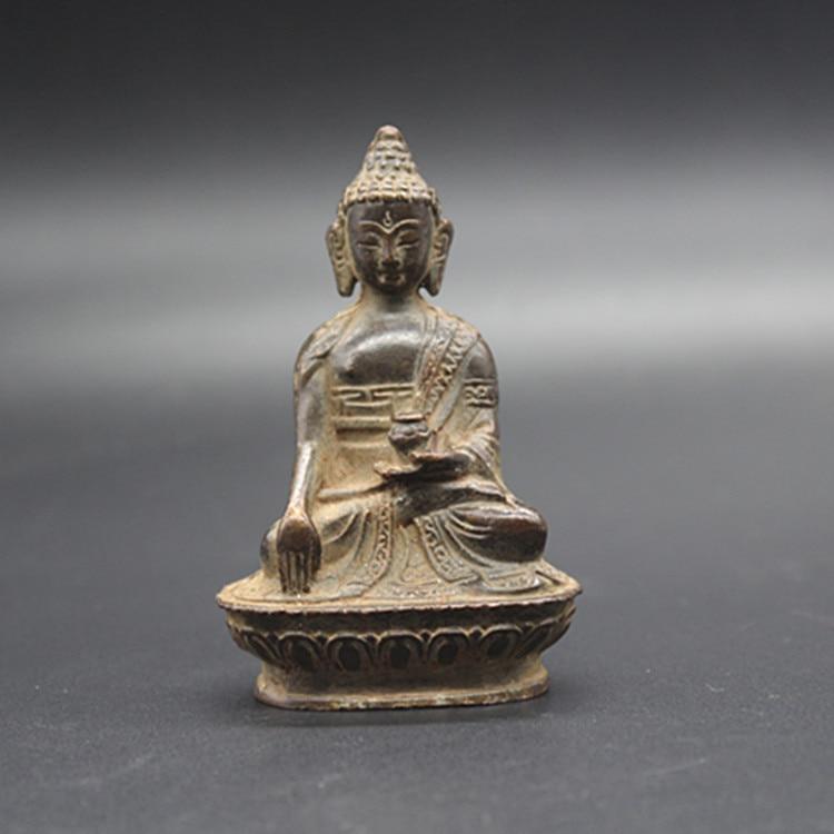 Beautiful Old Tibet Tibetan Bronze Buddhism Buddha statue Exorcism peace wealth