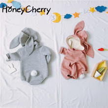 Baby Rabbit Stereoscopic Shape Of  Childrens Conjoined Clothes Girl Bodysuit Body For Newborn Babys