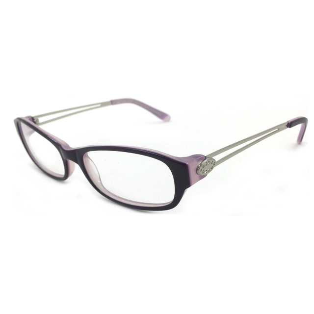Laura Fairy Clear Fashion Women Eyeglasses Frame Korean Glasses Frames Women Rhinestone and Material Patchwork Optical  Eyewear