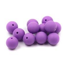 JOJOCHEW 100 unids 9mm-19mm Púrpura Caliente Nuevo Bebé de Silicona cuentas de Dentición Grado Alimenticio Cuentas de silicona Fabricación de Joyas