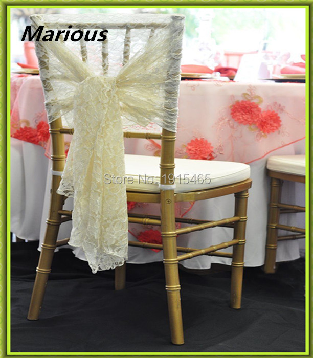 Marious Brand 2018 new style lace chair sashes & chair cover hoods & sashes for wedding part decoration free shipping