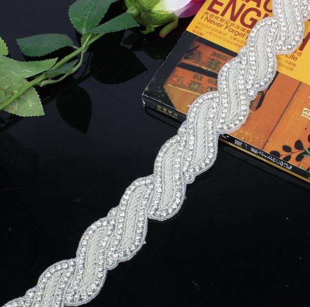 Honey Qiao Sparkly Luxurious Crystal Rhineston Bridal Sashes for Wedding Dresses 2017 Cinturones de novia con Cristales Belts