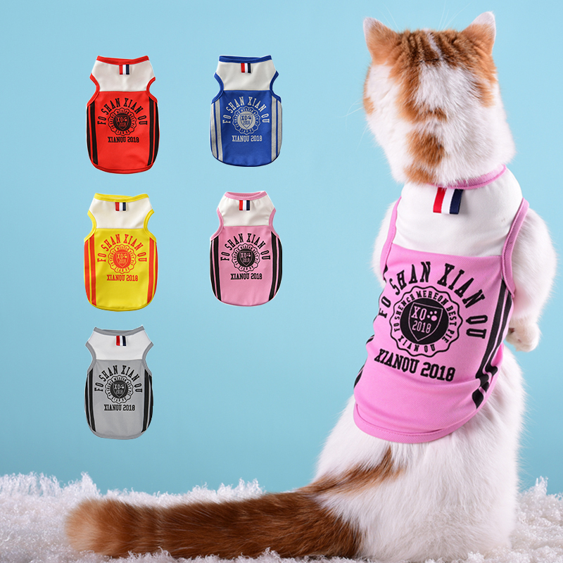 Aggressive Soccer Outdoor Jersey For Cat Dog Cool Breathable Cats Dogs Vests Puppy Outdoor Sportswear Footbal Xs-xxl Clothes Durable In Use Home & Garden