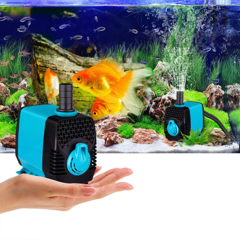 YYAQUA 3000L h Submersible Water Pump for Aquarium Fish Tank Hydroponics System Garden Pond Adjustable Flow