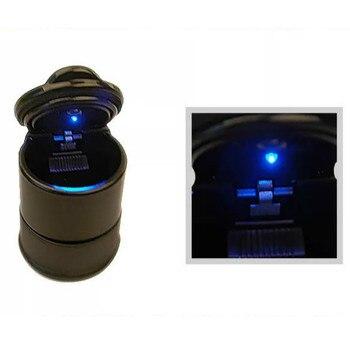 Cenicero de coche Durable portátil LED Auto Oficina cigarrillo Cenicero caja de soporte para Audi A6 BMW VW Toyota Camry Honda Nissan