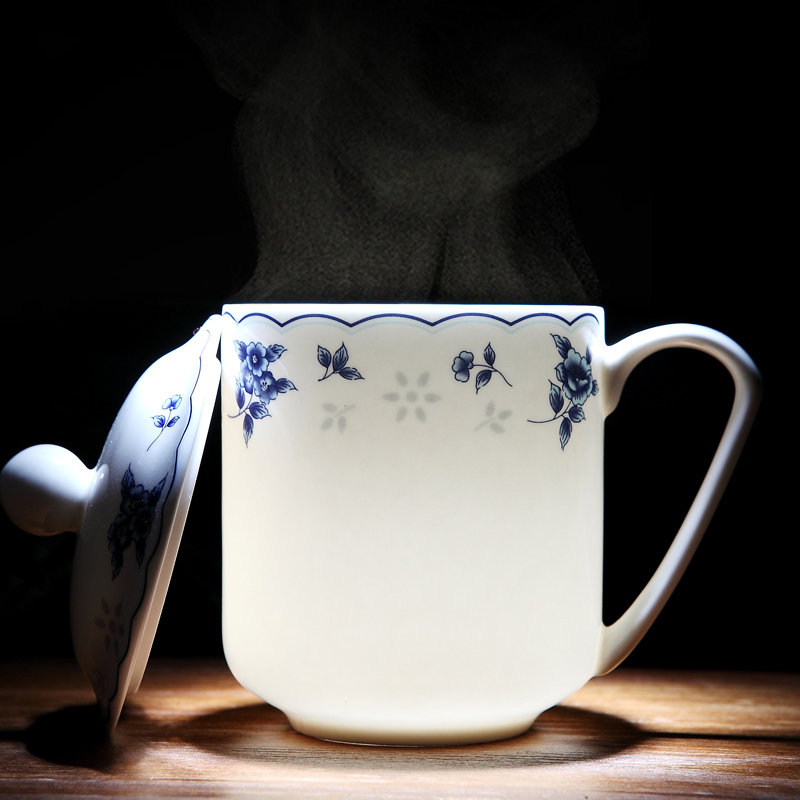 400ml bone china Natural Garden Ceramic <font><b>cup</b></font> set China <font><b>Coffee</b></font> <font><b>Porcelain</b></font> tea <font><b>cup</b></font> Light and Transparent for drinkware Gifts image