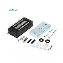С одной дверью электронный электромагнитные дверь замок, электромагнитный замок 60 кг/100Lbs для домашнего контроля доступа по отпечаткам витрина для стеклянной двери