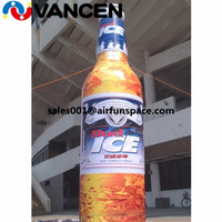 5.5m giant inflatable advertising model brand bottle model for advertisement high quality inflatable beer model