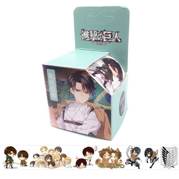 4cm*5m Attack On Titan Anime Washi Tape Adhesive Tape DIY Book Sticker Label Masking Tape 2 4cm 50m washi tape excellent quality paper tape adhesive tape washi masking tape