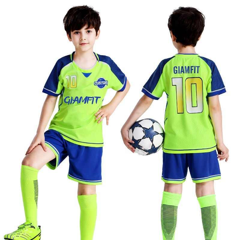 e5c21d3bde9 Camisetas de fútbol para niños 2019 Francia Jersey de fútbol camiseta de  fútbol personalizado de manga