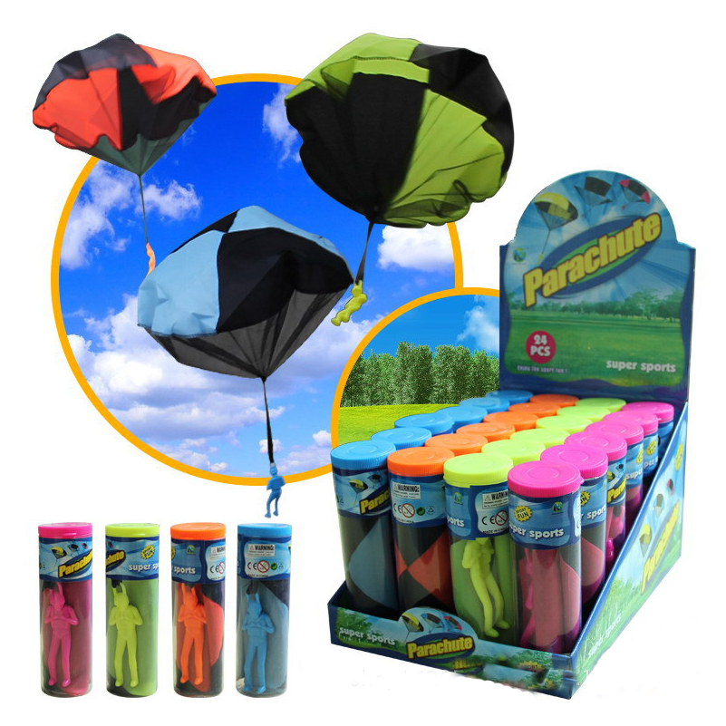 Hand Throwing kids mini play parachute toy soldier Outdoor sports Children s Educational Toys