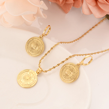 Bangrui uk uk peso coin Gold Color & Brass,Arab/Africa jewelry set women girl souvenir gift