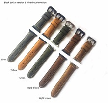 EACHE Vintage Genuine Leather Watchbands for apple 5 colors 42mm 38mm