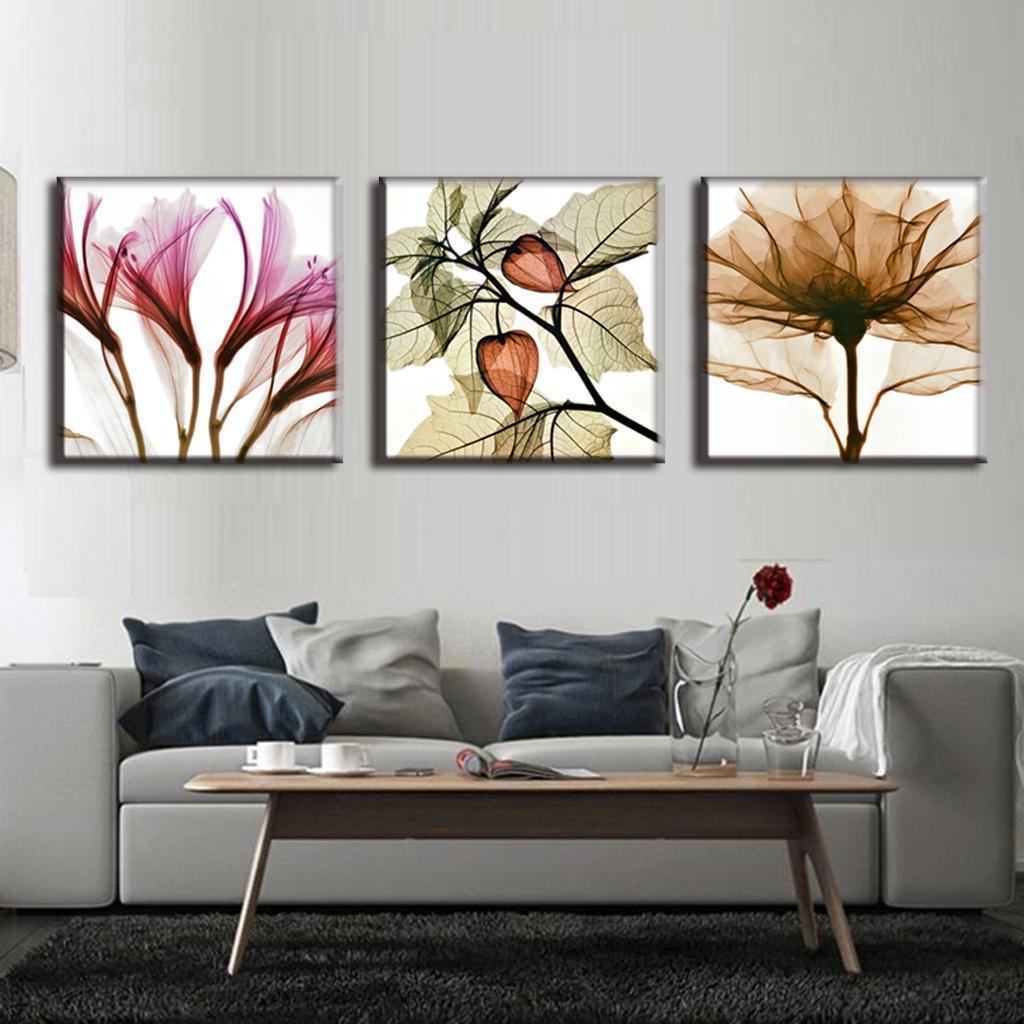 Bezaubernd Wandbilder Blumen Galerie Von 3 Stücke Öl Kunst Malerei Perspektive Moderne