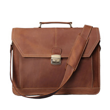 ROCKCOW Handmade Vintage Leather Briefcase Men Messenger Bag Laptop Bag 7083