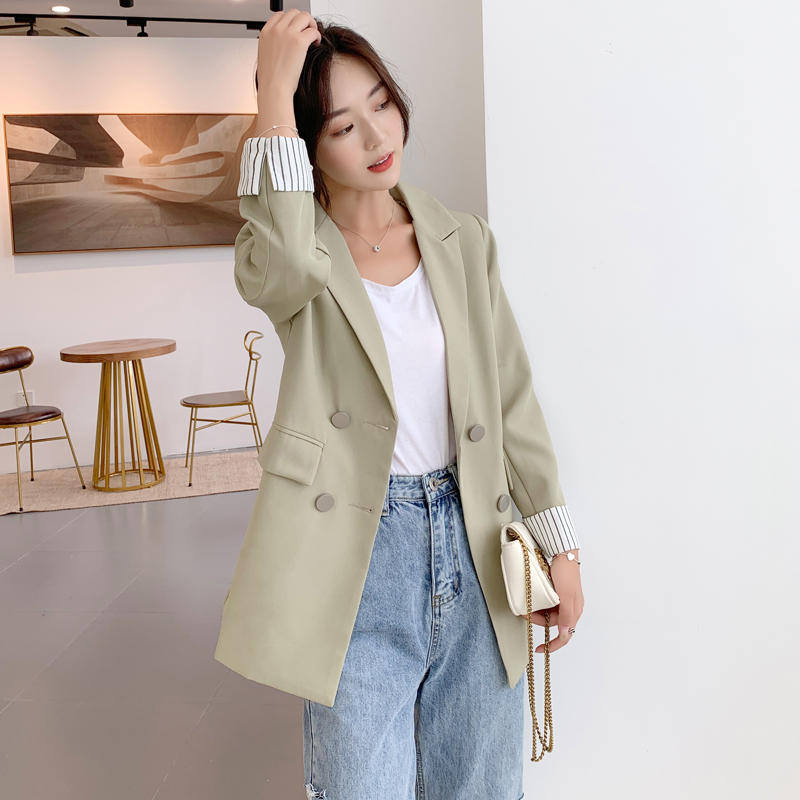Women Jackets Elegant Autumn Double-Breasted Winter Ladies Coat Outerwear Female Casual