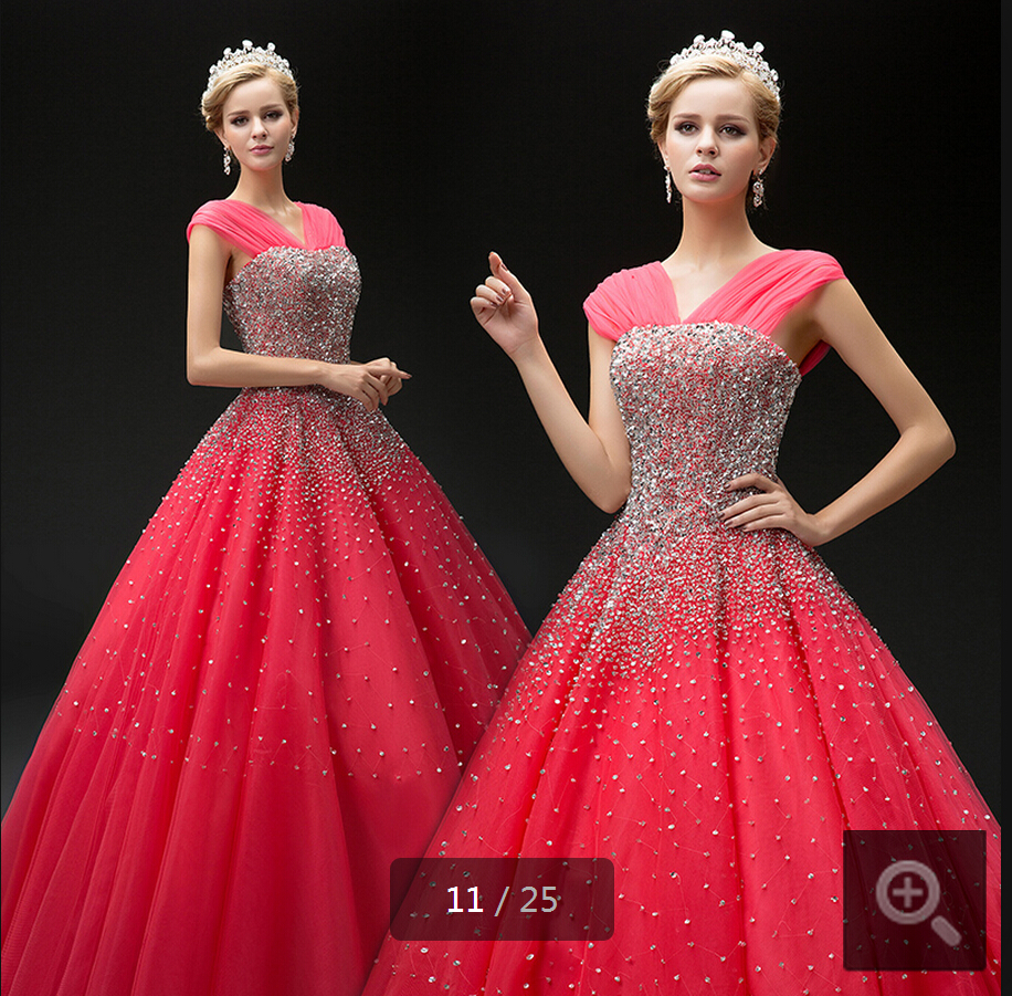 2017 Exquisite Pink Ball Gown Off Shoulder Heavily Beading Wedding Dresses Princess Puffy Sparkly Elegant In From Weddings