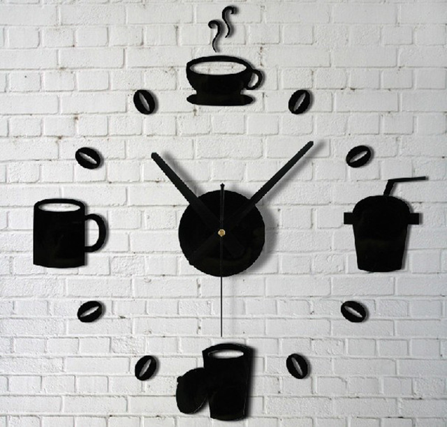 Concise Modern Design Diy Wall Clock Saat Home Decoration Vintage Watch Digital Decor