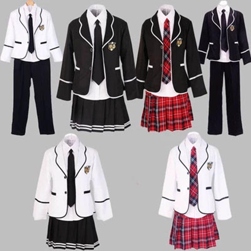 Les étudiants à manches longues uniformes scolaires japon et corée du sud JK uniformes junior lycée garçons et filles étudiants costume