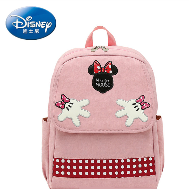 Disney Hot Mickey Minnie Large Capacity Multi-function Mummy Bag Diaper Bag USB Charging Heating Baby Care Package