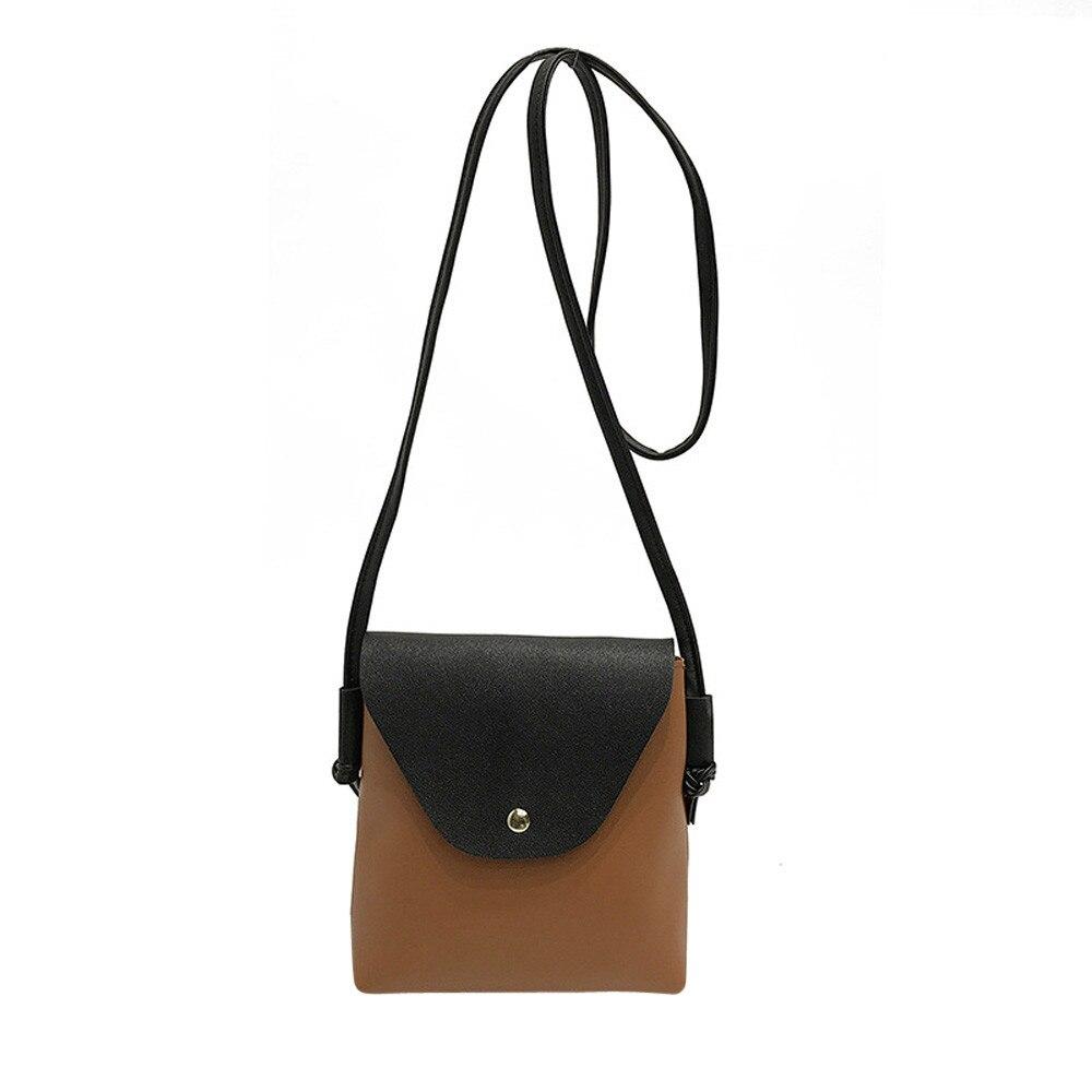 Women Female Handbags Leather Shoulder Bag Hit color Patchwork Messenger Satchel Tote Crossbody Bags Tablets bag bolsa A8