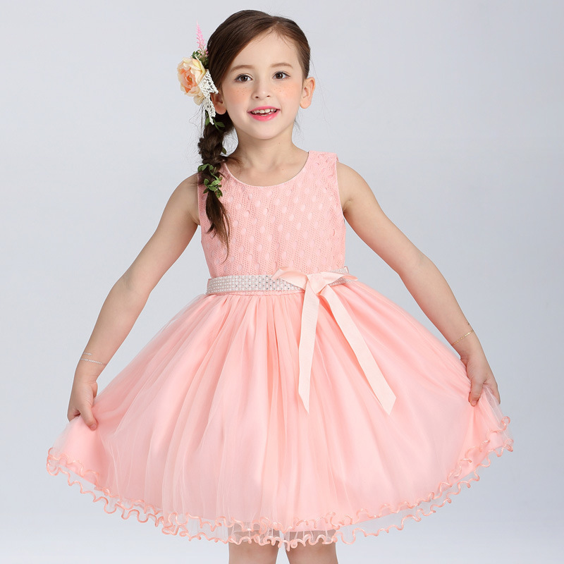 Graduation Party Girls Summer Dress Ruched Kids Clothes with Sashes Robe Fille Pink Princess Dress 10 Years Children Clothing girls summer dress kids clothes 2017 brand baby girl dress with flower robe fille princess dress children clothing