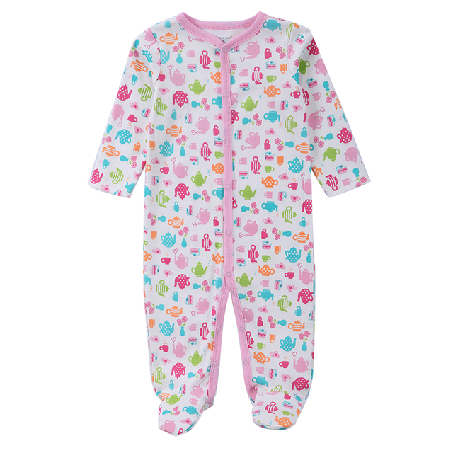 New 2018 Baby Clothes Cotton Soft Striped Infant Sleepwear Baby Clothing  Baby Footies Fashion Body Pajamas 0-12m Roupao De Banho 442d10ef4