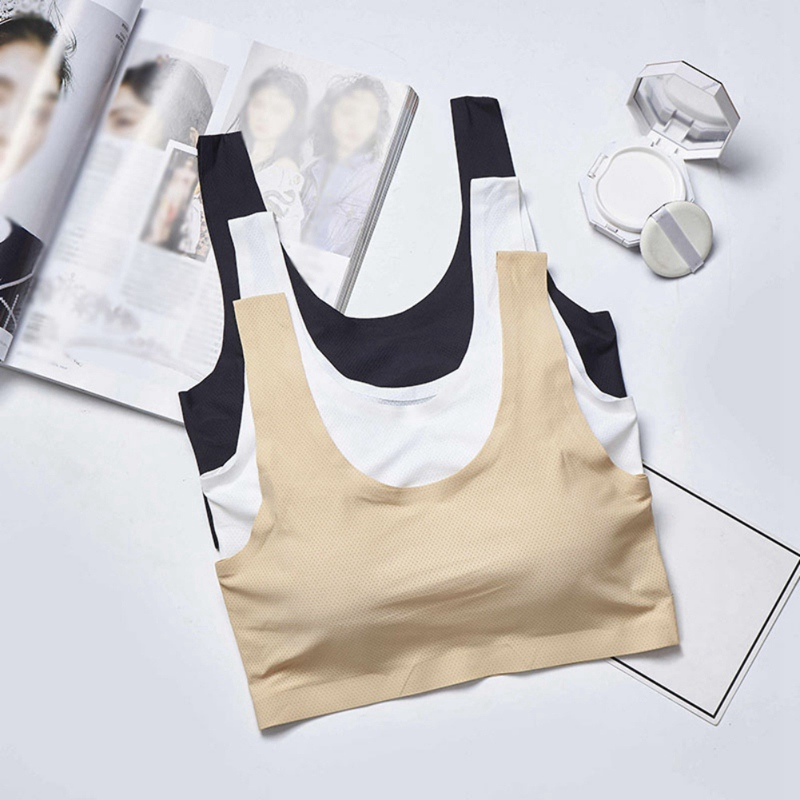 New Sujetador Mujer Underwear Bras For Women One-Piece Seamless Anti-Walking Movement Beauty Back Yoga Sports Bras